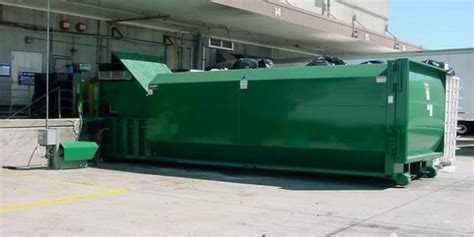 how does a commercial trash compactor work roll off self contained compactors dumpster northern