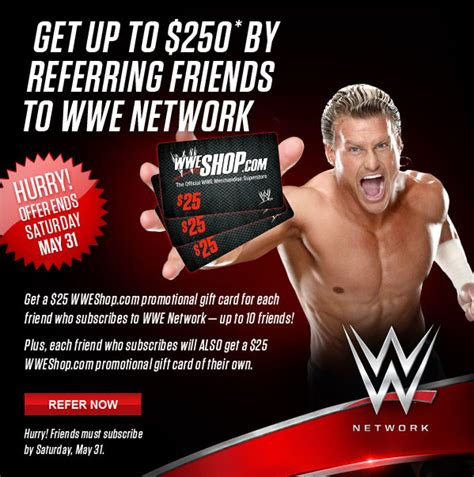 Wwe Network Gift Card - wwe announces network referral program cageside seats