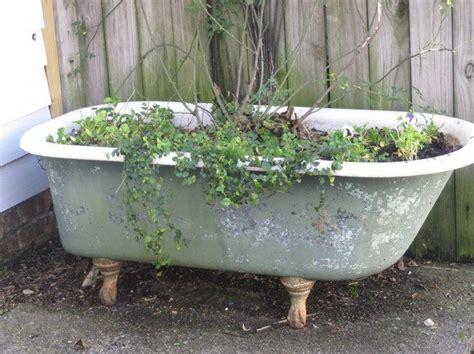 bathtub planters 82 best bathtub planters images on pinterest soaking