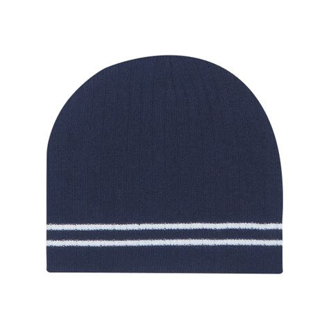 Letter Ribbed Beanie ribbed knit beanie with stripe goimprints