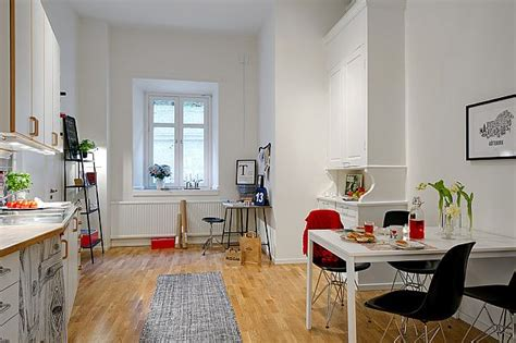 studio apartment dining table spacious studio apartment in vasastaden for rental