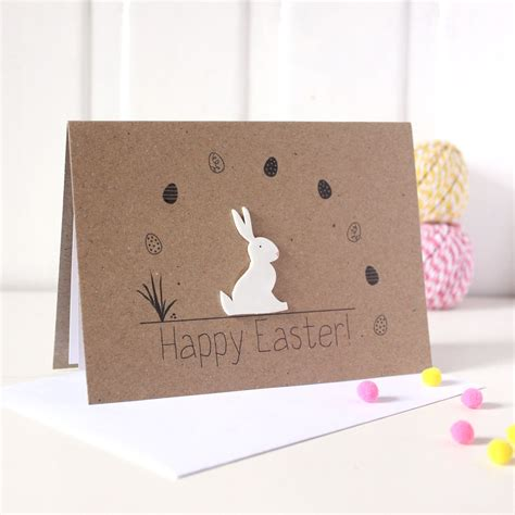 Easter Cards Handmade - handmade easter card easter bunny card easter rabbit card