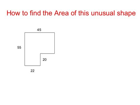 how to find the area of an shape