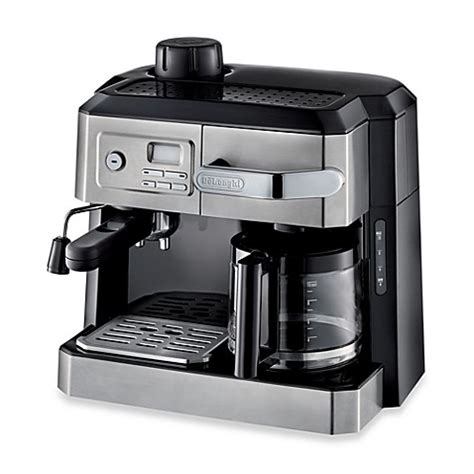 bed bath and beyond espresso de longhi bco330t combination steam espresso drip coffee