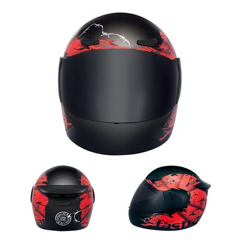 fastrack hc01bk03 black helmet wu23