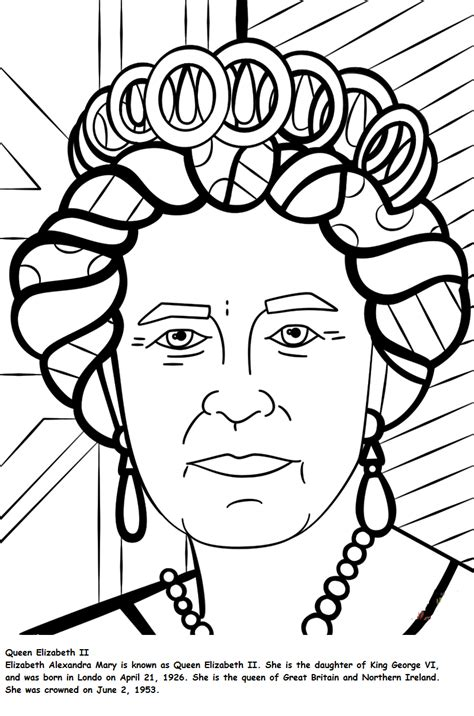 queen coloring pages free queen elizabeth coloring page online