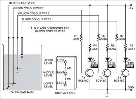 water level indicator project with circuit diagram fritzing project water level indicator with no