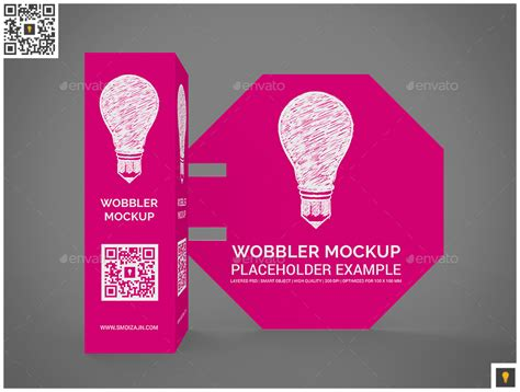 3d wobblers mockup by shockydesign graphicriver