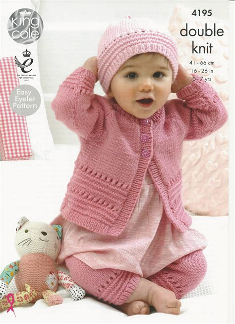 king cole free knitting patterns king cole babies childrens coat hat knitting