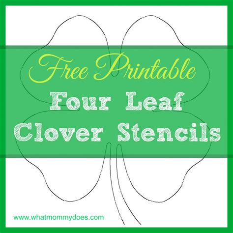 of clovers card template stencils templates what does