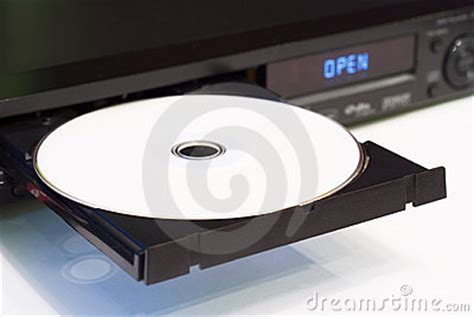 Dvd Player Drawer Won T Open by Dvd Player With An Open Tray Stock Image Image 18074691