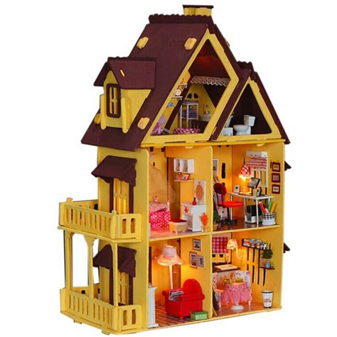 dolls houses for adults diy doll house with furniture handmade model building kits 3d villa miniature wooden