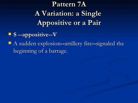 sentence pattern variations artof stylingsentencespowerpoint
