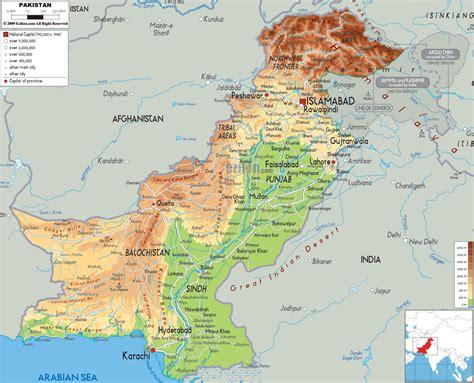 map of pakistan physical map of pakistan ezilon maps