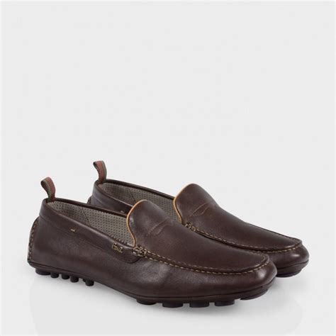 paul smith s brown leather driving shoes
