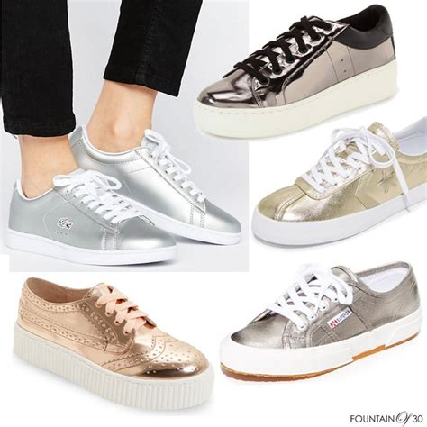 shoe trend must shoe trend metallic sneakers fountainof30