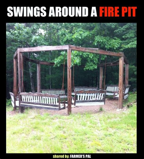 swings around fire pit swings around fire pit garden ideas pinterest