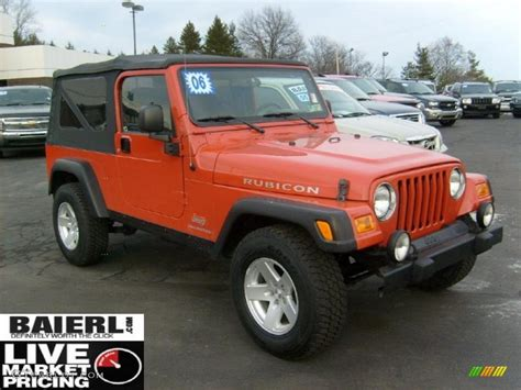 orange jeep rubicon 2006 impact orange jeep wrangler unlimited rubicon 4x4
