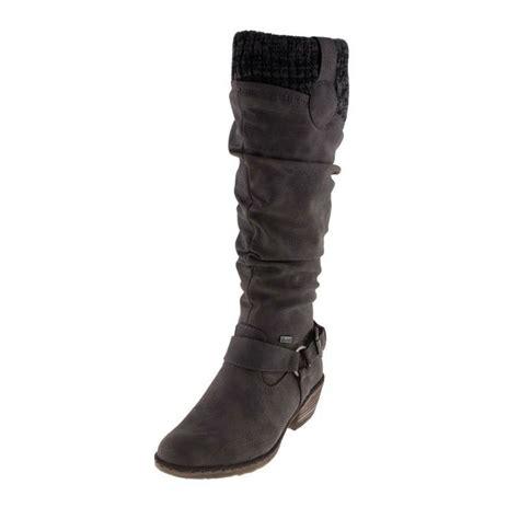 grey wide calf boots rieker 93756 42 womens showerproof grey wide calf