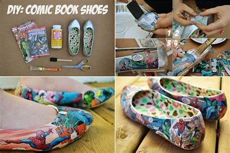comic shoes diy how to diy creative comic book shoes
