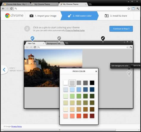 chrome theme color how to create your own personalized chrome theme ghacks