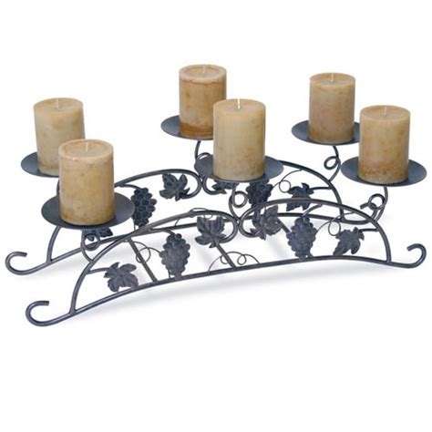 wrought iron grapevine fireplace candelabra by napa forge