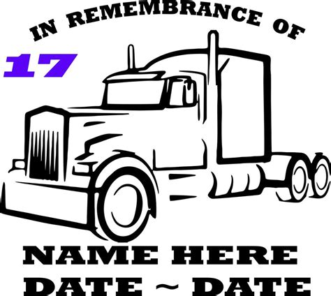 Auto Decals In Memory Of by Custom Made Semi Truck In Loving Memory Of Decal 17