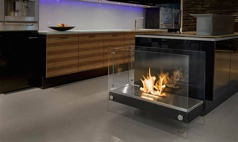Kitchen Island Or Table by 15 Bio Ethanol Fireplaces With Geometric Designs