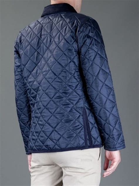 lavenham husky quilted jacket in blue for lyst