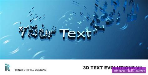 3d text evolutions after effects project videohive