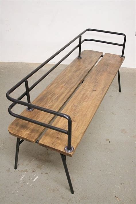 wood and steel bench pipe and wood chair pp wooden diy furniture pinterest