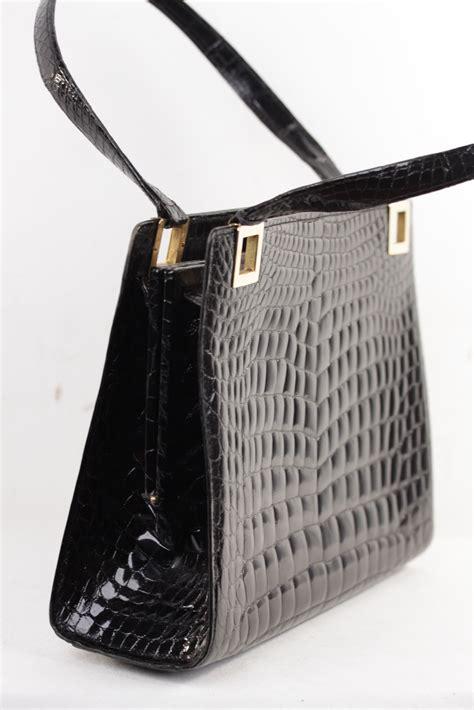 Fendi And Vintage Fendi Crocodile Designer Tote fendi italian vintage italian black crocodile leather