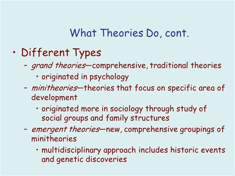 traditional psychology theory human growth and development ppt