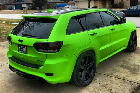 jeep trackhawk colors toxicsrt s matte toxic green srt wrapfolio