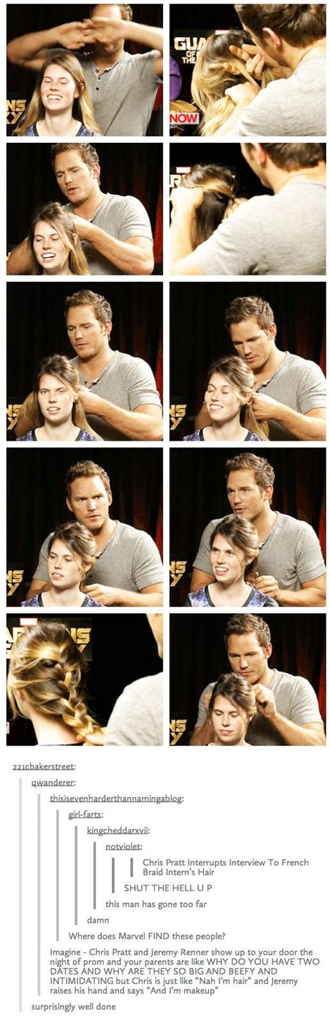 how to braid marel chris pratt french braid funny pictures quotes memes