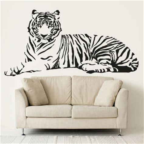Large Wall Murals Cheap tiger wall stickers wall decals white tiger eyes