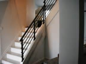 Contemporary Banister Modern Black Staircase Banister Home Design Examples