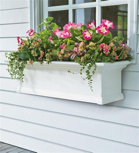 outdoor window box self watering window boxes modern outdoor pots and