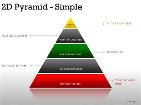 2d Pyramid Simple Powerpoint Presentation Slides Powerpoint Pyramid Template