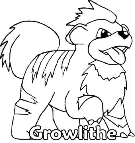 pokemon coloring pages arcanine pokemon coloring page 058 growlithe coloring pages