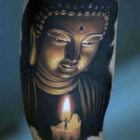 japanese buddha tattoo designs serene japanese buddha with candle on arms