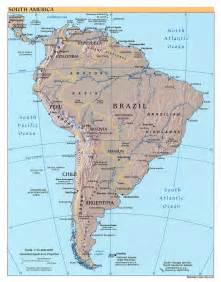 south america map geography and maps of south america