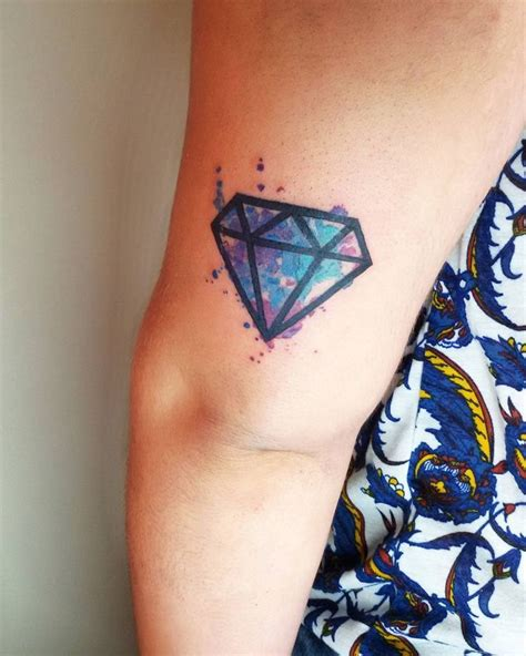 watercolor tattoo diamond best 25 diamante tatto ideas on tatoo