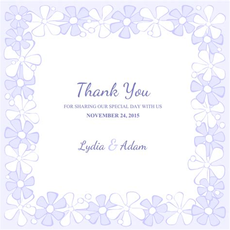 Free Printable Wedding Thank You Cards Templates thank you card template free anuvrat info