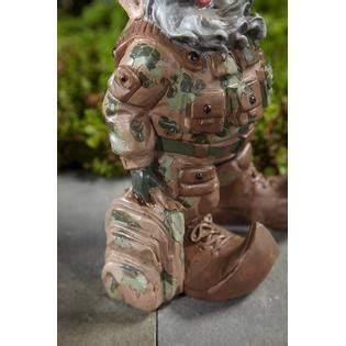 sears military ornament 14 5 quot gnome army outdoor living outdoor decor lawn ornaments statues