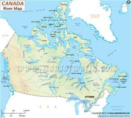 rivers of canada map rivers in canda canada rivers