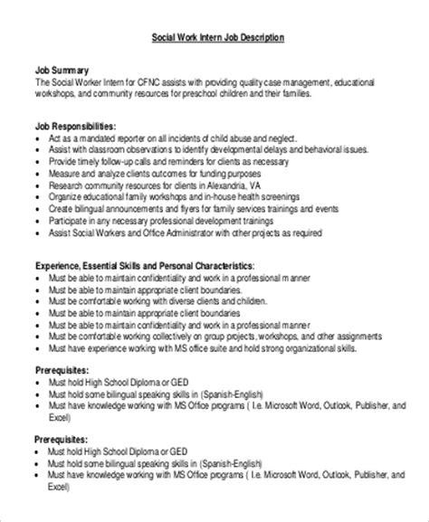 office intern description office intern description resume template sle