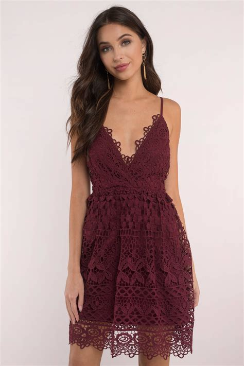 Id Pink Lace Dress skater dress lace dress skater dress pretty
