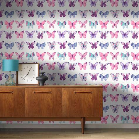 butterfly bedroom decor pink butterflies wallpaper rasch 273618 new butterfly