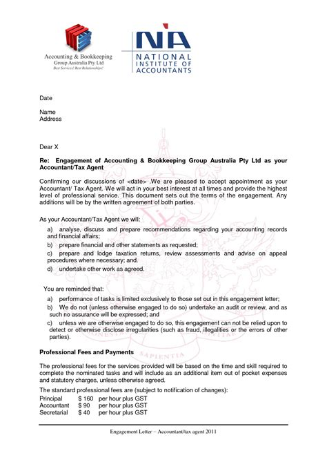 bookkeeping engagement letter template letter template 2017
